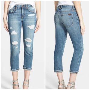 Joe's Slim Boyfriend Crop Destroyed Jeans. Size 27